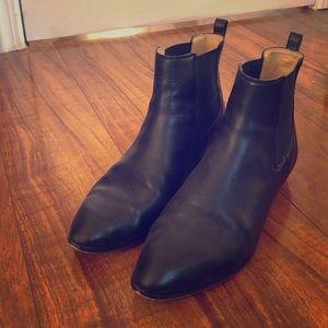 I.Crew black leather Chelsea boots